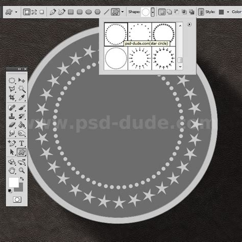 Dot Circle Photoshop Images Challenge Coin Template Psd