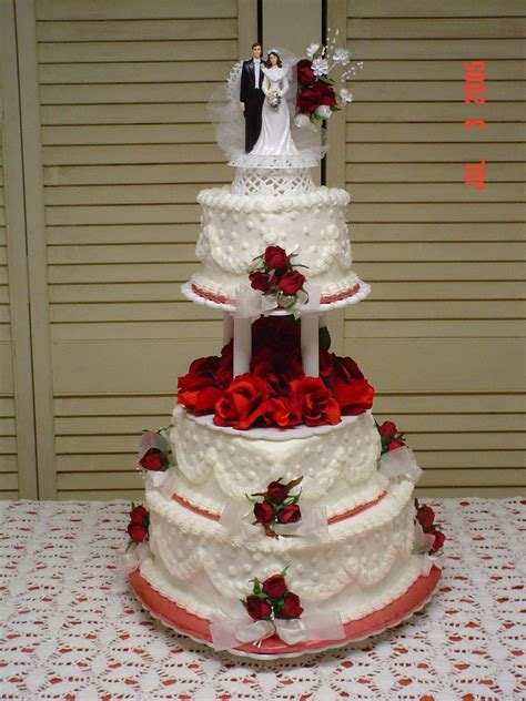 Tiered Wedding Cakes by White Tiered Wedding Cake Cakecentral