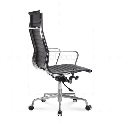 eames office chair high back ribbed leather white eames office chair high back ribbed leather black 163 317