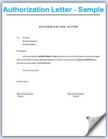 Authorization Letter How To Write Authorization Letter Sample Crna Cover Letter