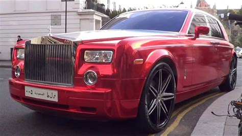 rolls royce ghost red red chrome arab rolls royce phantom combos and driving in