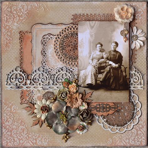 scrapbook layout vintage majadesign papers from their walking in the forest and ska