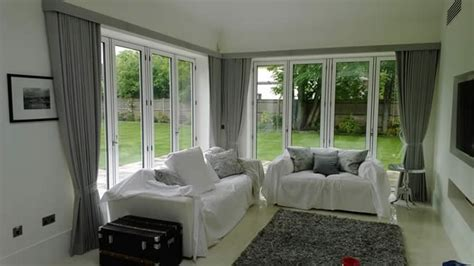 Door Window Curtain Ideas Curtains For Bifold Doors Window Treatments For Bifold Doors