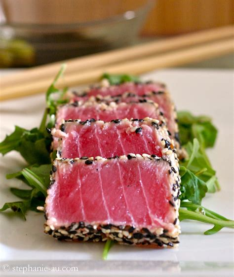 sesame crusted seared ahi tuna life tastes like food