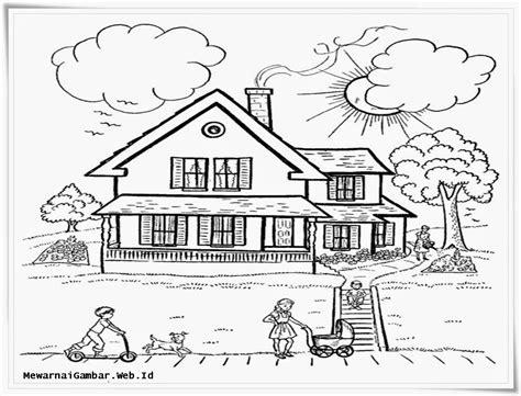 wallpaper pemandangan hitam putih mewarnai gambar mewarnai gambar sketsa pemandangan rumah