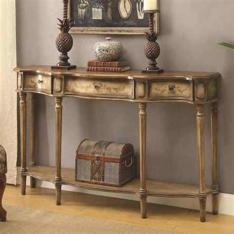 console accent tables coaster accent tables traditional breakfront console table value russcarnahan