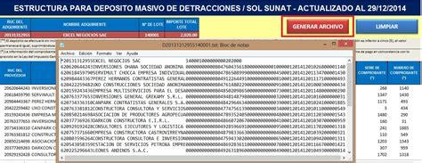 pago detracciones banco de la nacion 2016 pago masivo de detracciones archivo excel new style for