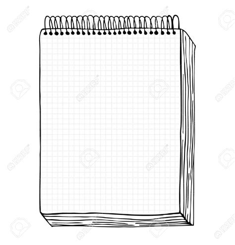 Drawing Notepad by Drawing Clipart Notebook Pencil And In Color Drawing