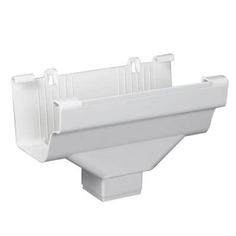 Vinyl Gutters Home Depot by Amerimax Home Products White Vinyl K Style Drop Outlet
