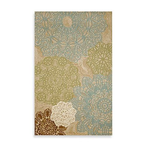 Bed Bath Beyond Bathroom Rugs Crochet Indoor Outdoor Rug In Aqua Bed Bath Beyond