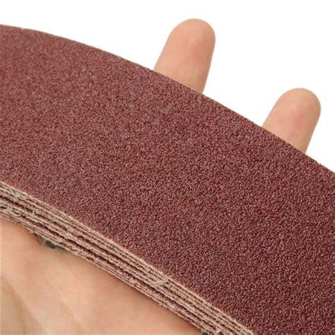 10pcs 106x5cm Alumina Sanding Belts 80 Grit Sandpaper Self