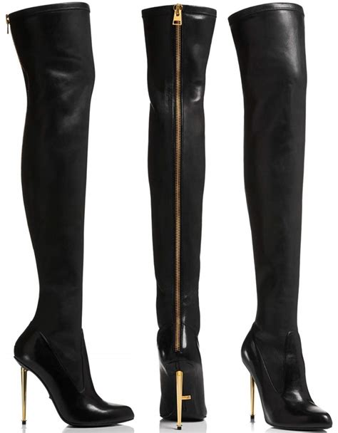 tom ford boots grande in tom ford nappa stretch leather metal