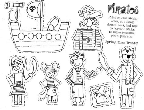 paper puppets templates time treats paper puppets pirate cowboy