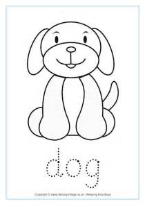 dog word tracing