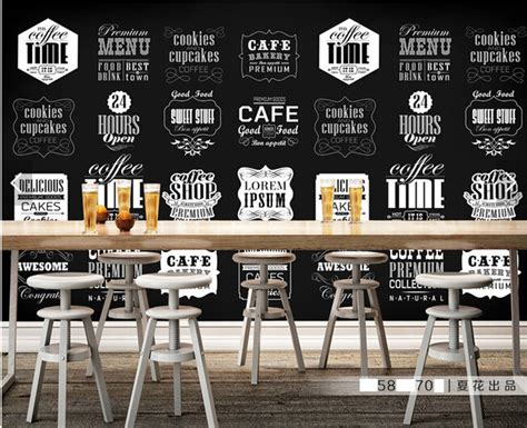 House Wall Murals aliexpress com buy custom retro wallpaper coffee theme