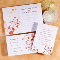 fall wedding invitations cheap autumn wedding invitation