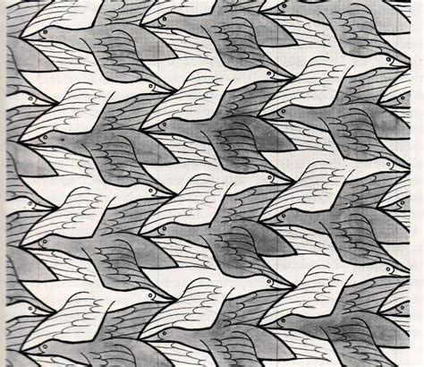 pattern of c a escher s tessellations of the plane section 8