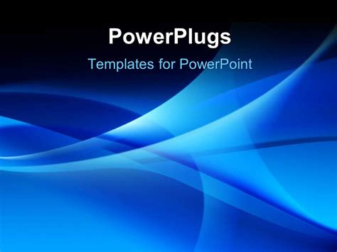 powerpoint template various bluish waves in the