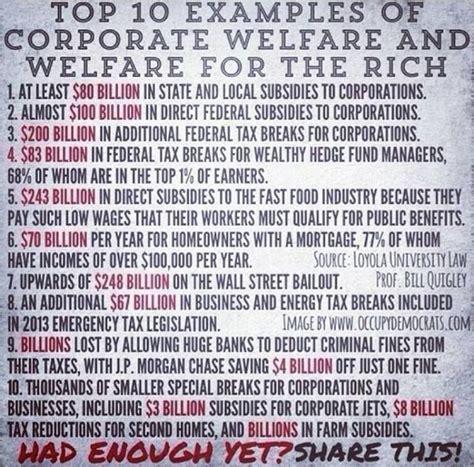 corporate welfare vs social welfare corporate welfare vs social welfare corporate welfare your