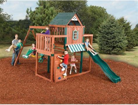 outdoor swing and slide sets swing n slide winchester wood swing set modern kids