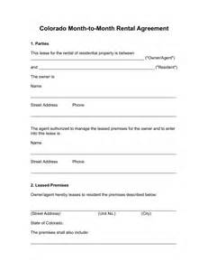 6 month tenancy agreement template free colorado month to month rental agreement template