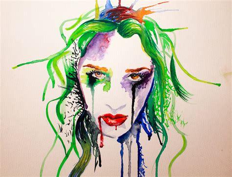 dibujos para pintar con acuarelas retrato acuarela gotas y manchas youtube