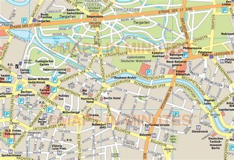 map of berlin berlin city map in illustrator cs or pdf format