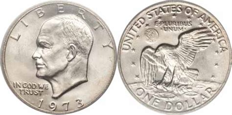 specifications eisenhower silver dollars 1973 eisenhower dollar values facts