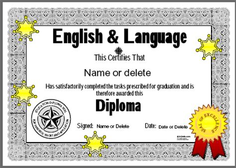 certificates for teachers english and language awards and