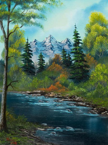 bob ross painting emerald waters 40 easy and simple landscape painting ideas peinture
