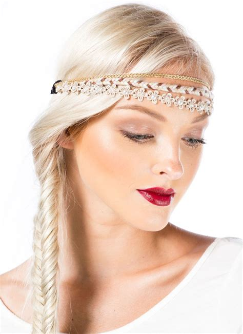cheap haircuts band layered daisies n chains headband tresses pinterest