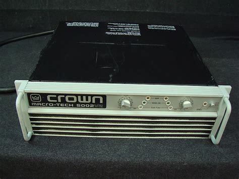 Power Crown Macro Tech 5002 Vz crown macro tech 5002vz power reverb