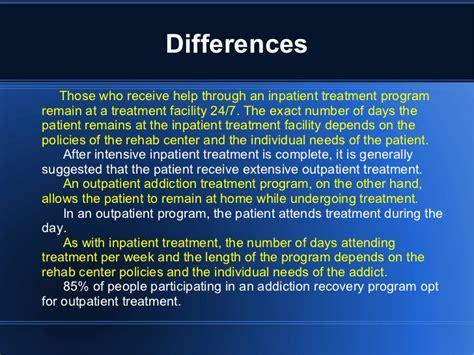 Outpatient Detox Units Vs Institutions by Outpatient Vs Inpatient Treatment Powerpoint