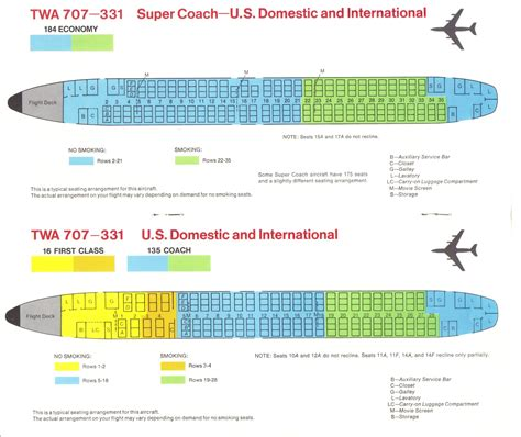 airlines past present twa seat guide map
