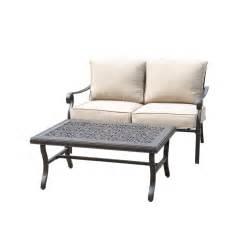 Allen Roth Patio Furniture by Shop Allen Roth Ebervale 2 Piece Aged Bronze Aluminum