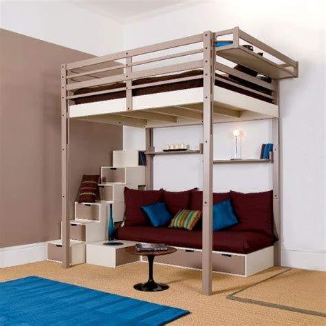 luxury bunk beds for adults high bed with futon bm furnititure