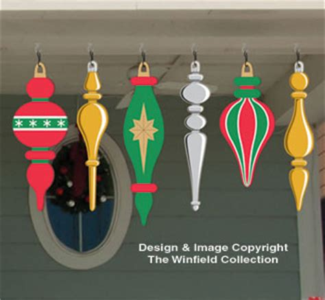 holiday signs large ornaments 3 woodcraft pattern
