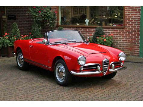 Alfa Romeo For Sale In Usa by 1962 Alfa Romeo Giulia Spider For Sale Classiccars