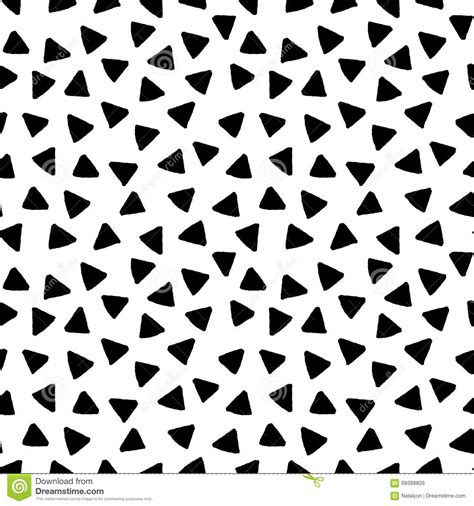 black and white hand pattern black and white triangles hand drawn simple geometric