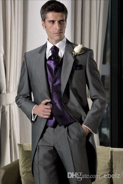 To Groom Sle grey tuxedos 2015 sale suits one button