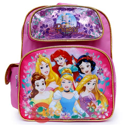 Cinderella Small Backpack 1 disney princess school backpack 12 quot small meidum bag floral cinderlla ariel ebay