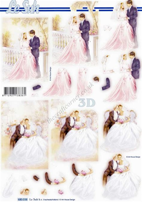 wedding decoupage wedding die cut 3d decoupage sheet from le suh