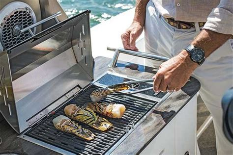 gas grill for boat grilling on your boat boatus magazine
