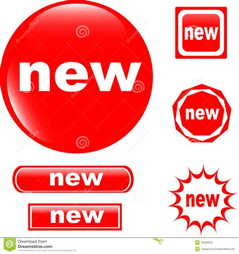 New Pic by New Button Web Glossy Icon Stock Photography Image 19530532