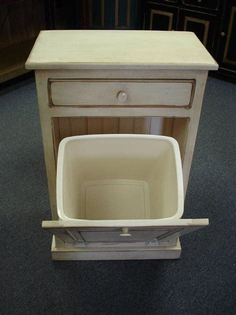 kitchen cabinet garbage drawer amish tilt out trash can