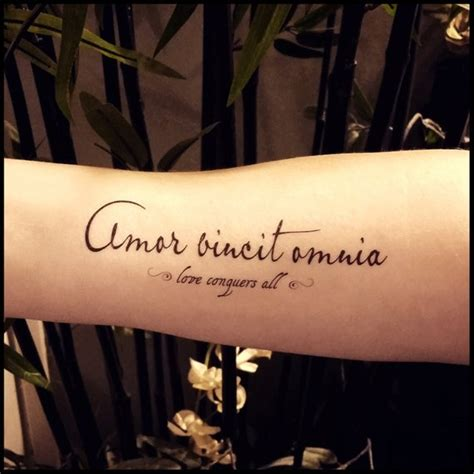 love conquers all tattoo conquers all quote temporary