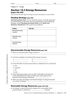 section 15 3 energy resources section 15 1 energy and its forms ipls