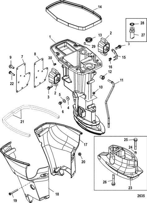 Suzuki Outboard Parts Canada Mercury Marine 15 Hp 4 Stroke Driveshaft Housing Parts