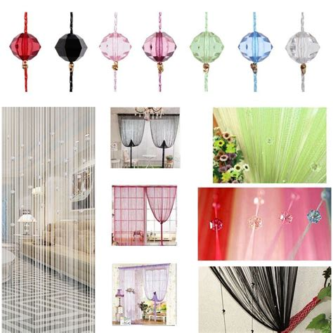 beaded home decor beaded string curtain door divider crystal beads tassel