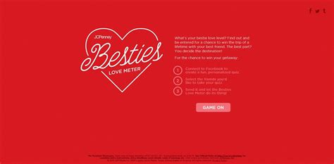 Jcpenney Sweepstakes - jcpenney besties love meter sweepstakes show your besties some love
